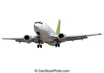 hvid, flyvemaskine, baggrund