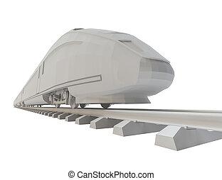 hvid, high-speed tog