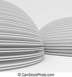 hvid, moderne, konstruktion, arkitektur