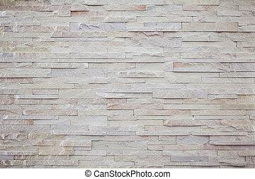 hvid, moderne, sten, mursten mur, surfaced, tekstur
