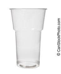 hvid, plastik, tom, baggrund, kop