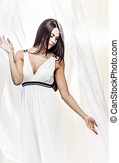 hvid, silke