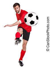 hvid, skære, footballer, ydre