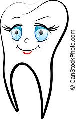 hvid tand