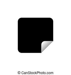 hvid, vektor, illustration, mærkaten, eps10, baggrund., isoleret