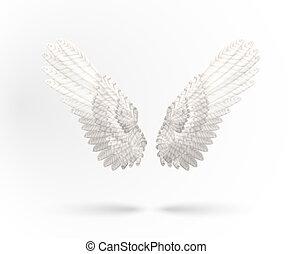 hvid, vinger