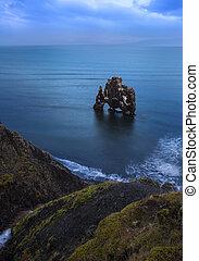 Hvitserkur rock in northwest Iceland.