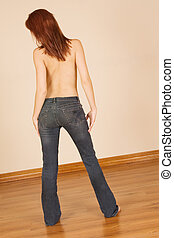hwtopless #1 - Topless redhead barefoot and in jeans - from...
