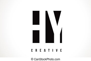 Hy H Y White Letter Logo Design With Circle Background Hy H Y White