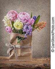 hyacinter, og, ranunculus, blomster