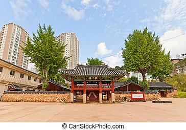hyanggyo, confucian, corée, shrine-school, busan, dongnae