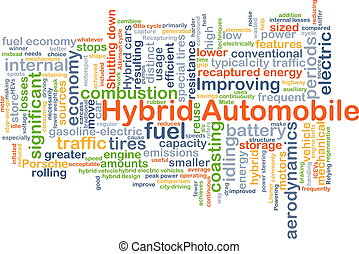 Hybrid Automobile background concept - Background concept...