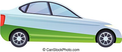Hybrid car icon, cartoon style