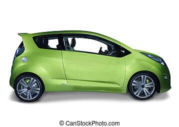 Hybrid Car - New fuel efficeint hybrid car design. The...