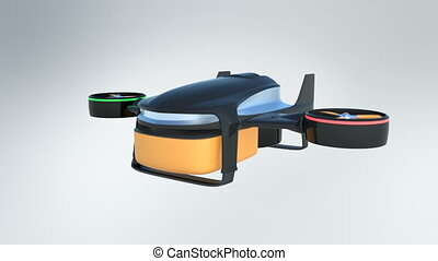 Hybrid drone delivery system - Demonstration of hybrid drone...