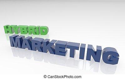 Hybrid Marketing 3D text - XXXL