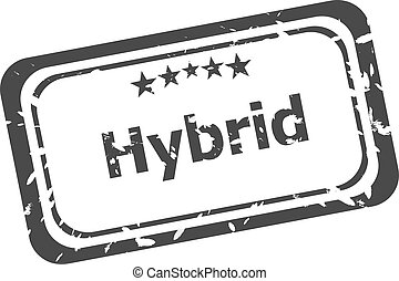 hybride, rubber, grunge, postzegel, witte , vrijstaand