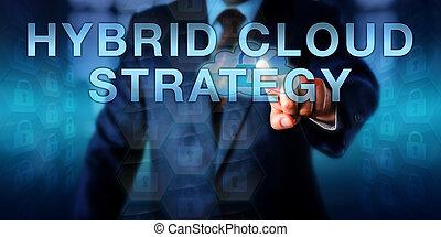 hybride, stratégie, toucher, utilisateur, entreprise, nuage