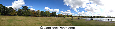 Hyde Park panoramic view in London