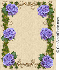 Hydrangea and Ivy Wedding template