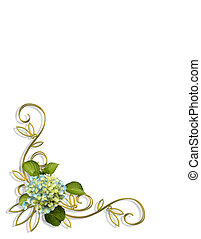 hydrangea, floral, esquina