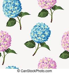 Hydrangea flower seamless