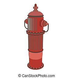 Hydrant fire vector water icon safety emergency department isolated illustration