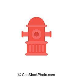 hydrant flat icon