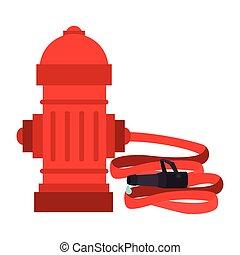 hydrant hose tank city icon vector graphic