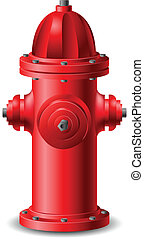Hydrant - Red Hydrant isolated on white