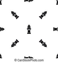 Hydrant pattern seamless black