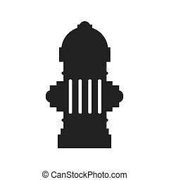 hydrant tank city icon vector graphic