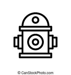 hydrant thin line icon