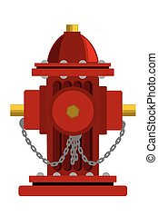 Hydrant. Vector cartoon illustration isolated on white background.
