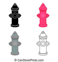 Hydrant vector icon in cartoon style for web