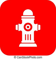 Hydrant vector sign - Red hydrant vector sign