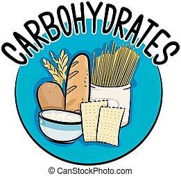 hydrates carbone, icône