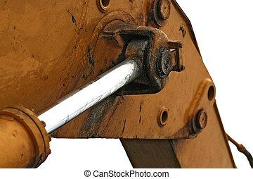 hydraulic arm - Close up at heavy hydraulic arm of...