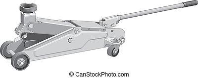 Hydraulic Car Jack - Illustration of a hydraulic car jack...