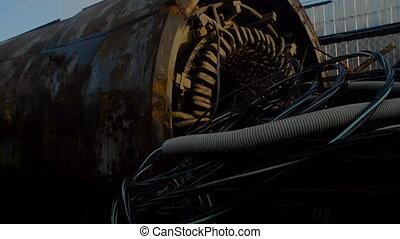 Hydraulic Drum on Metal Scrapyard - Hydraulic Drum and Gas...