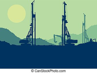 Hydraulic earth hole pile drilling machine, tractors digging...