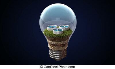 Hydraulic energy makes an bulb