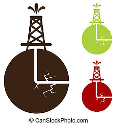 Hydraulic Fracturing Icon - An image of a hydraulic...