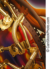 hydraulic pipes - hydraulics pipes used in the aviation...