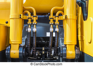 hydraulic system of the tractor, tube and connections