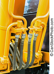 hydraulics tractor yellow