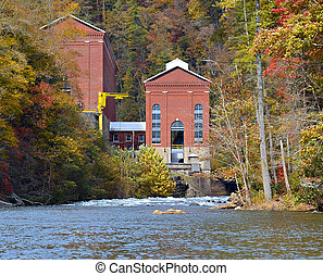 Hydro Electric Plant  in Fall