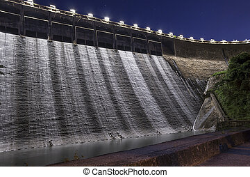 Hydro electricity plant at dusk