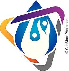 Hydro Healthy Logo Design Template Vector