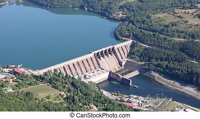 Hydroelectric power plant on Drina river Serbia